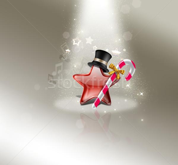 Superstar komische muziek licht star succes Stockfoto © zven0