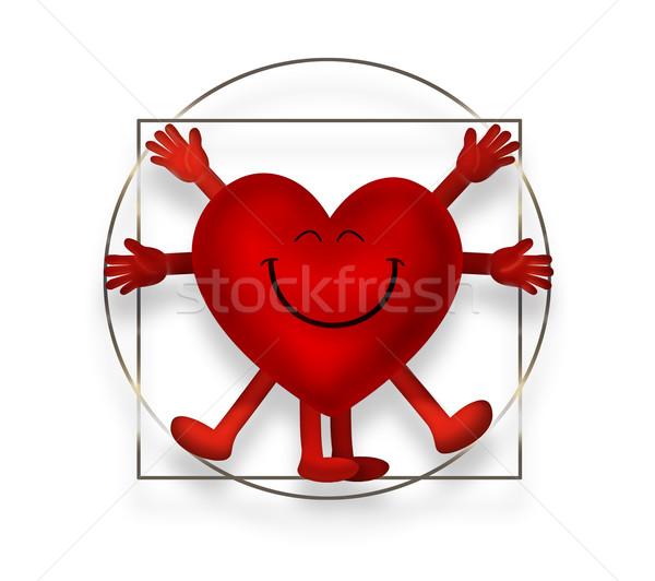 Vitruvian heart Stock photo © zven0