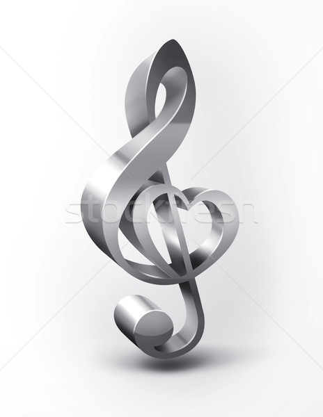 metal treble clef  Stock photo © zven0