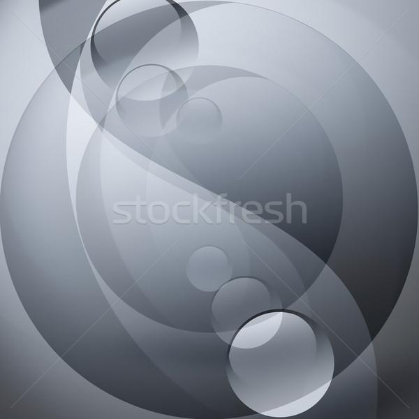 Yin yang szimbólum absztrakt szürke terv felirat Stock fotó © zven0
