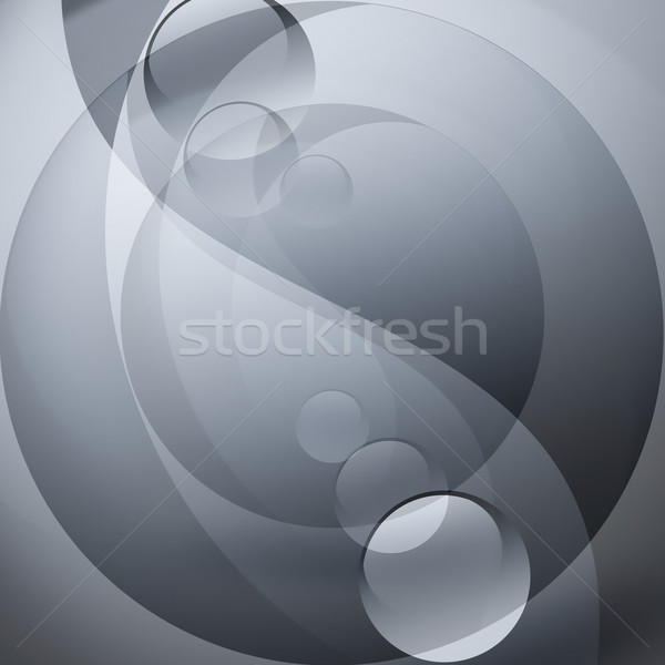 Инь-Ян символ аннотация серый дизайна знак Сток-фото © zven0