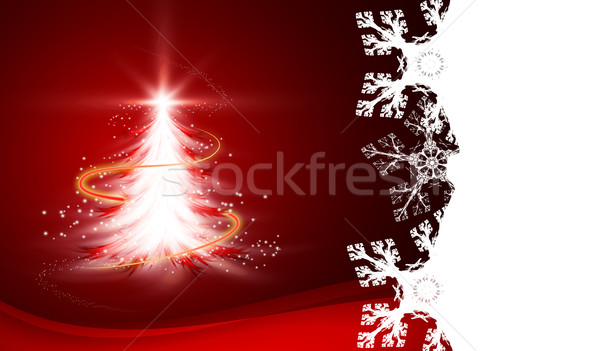 Christmas briefkaart abstract Rood Stockfoto © zven0