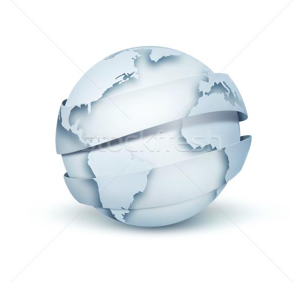水色 世界中 現代 白 ビジネス 光 ストックフォト © zven0