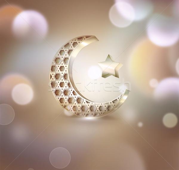 полумесяц звездой свет аннотация дизайна Сток-фото © zven0