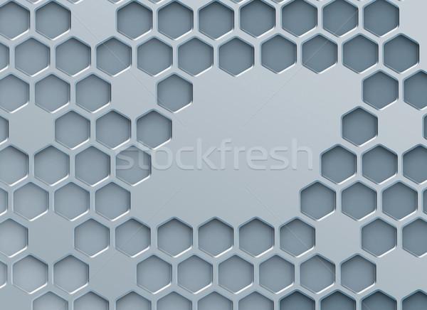 Metal soyut dizayn teknoloji arka plan çerçeve Stok fotoğraf © zven0