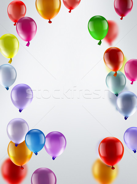 festive background with balloons Stock photo © zven0