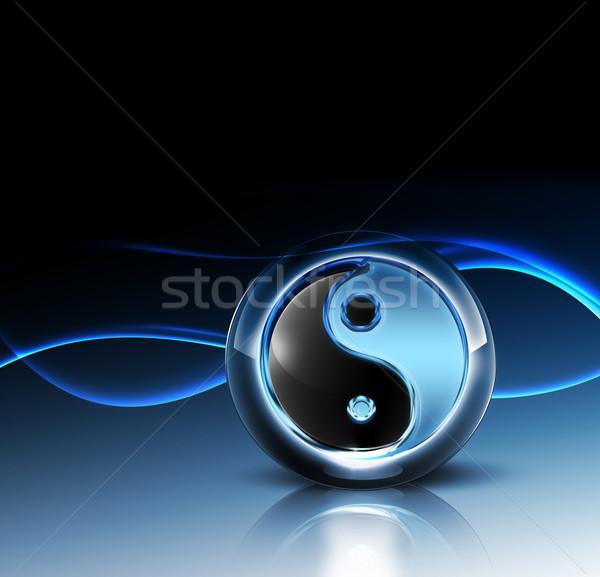 3D yin yang simbolo fantastico abstract design Foto d'archivio © zven0