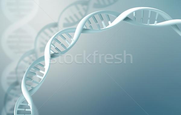Streszczenie nauki DNA tle niebieski komórek Zdjęcia stock © zven0