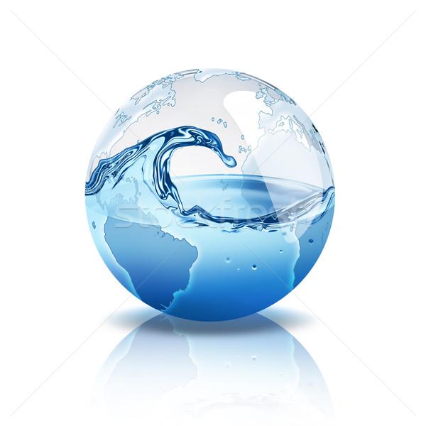 Wody świat wewnątrz Pokaż charakter sztuki Zdjęcia stock © zven0