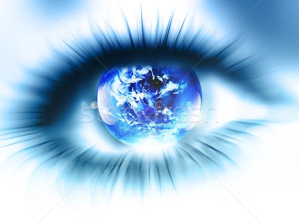планеты глаза аннотация расплывчатый мира карта Сток-фото © zven0