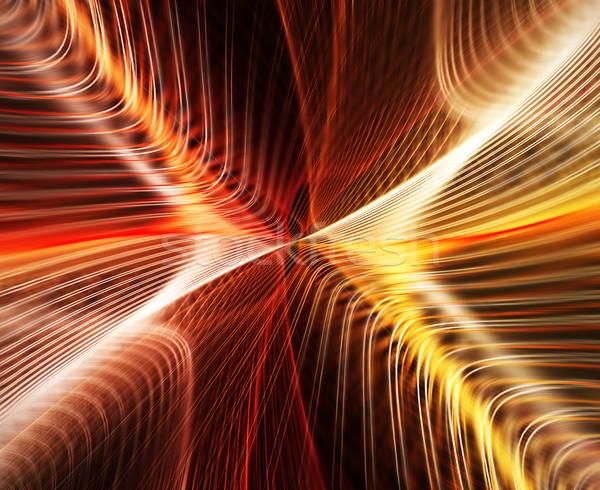 Piros csíkok absztrakt elmosódott művészet narancs Stock fotó © zven0