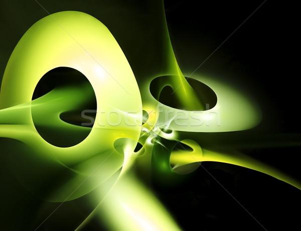 Streszczenie nowoczesne zielone circles komputera ramki Zdjęcia stock © zven0
