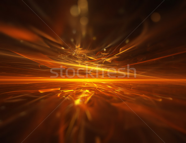 Fuoco frattale orizzonte luce sfondo arancione Foto d'archivio © zven0