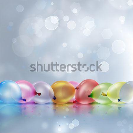 Renkli balonlar parti kutlama Stok fotoğraf © zven0