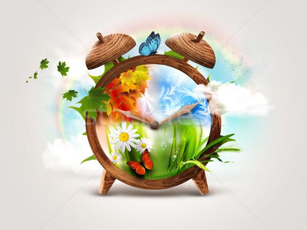 四季 時間 デザイン 抽象的な 雪 美 ストックフォト © zven0
