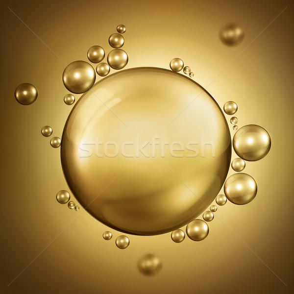 Buborékok olaj absztrakt terv levegő fény Stock fotó © zven0