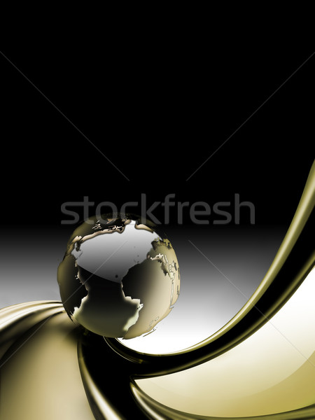 Abstract business planeet textuur wereldbol kaart Stockfoto © zven0