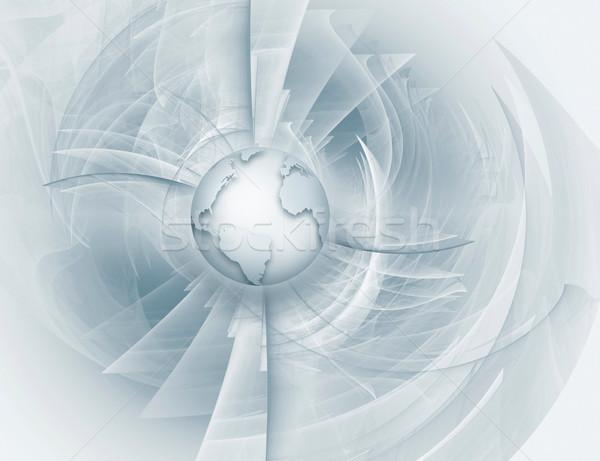 Futurista tecnologia abstrato mundo globo luz Foto stock © zven0