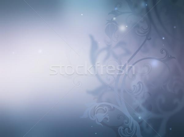 Virágmintás dísz puha fény ibolya virág Stock fotó © zven0