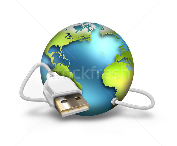 USB world Stock photo © zven0