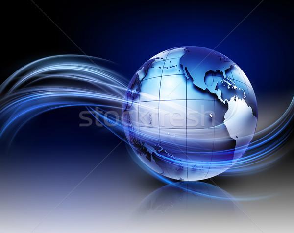 Technologii nowoczesne metaliczny świat światła Pokaż Zdjęcia stock © zven0