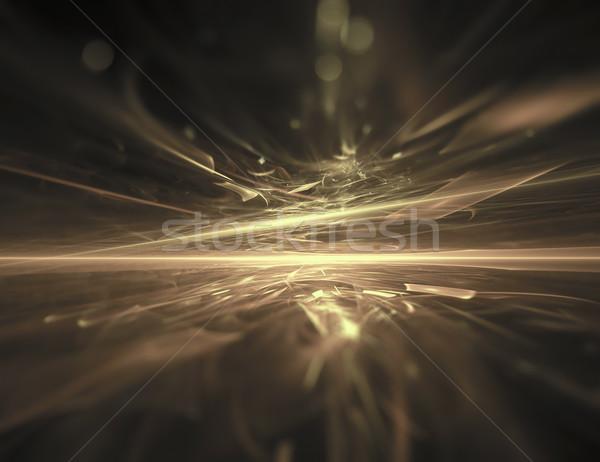 Altın ufuk fraktal ışık uzay gece Stok fotoğraf © zven0
