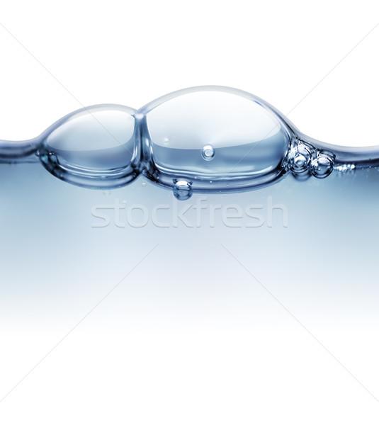 Víz közelkép vonal levegő buborékok absztrakt Stock fotó © zven0