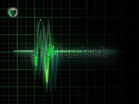 électrocardiogramme graphique sombre ordinateur médicaux Photo stock © zven0