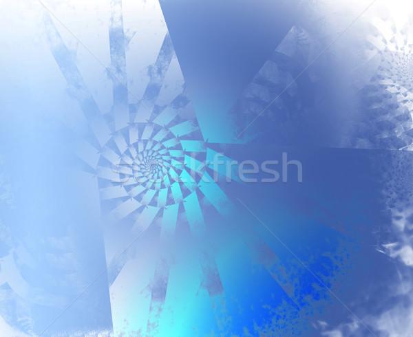 Abstrato azul spiralis computador internet luz Foto stock © zven0