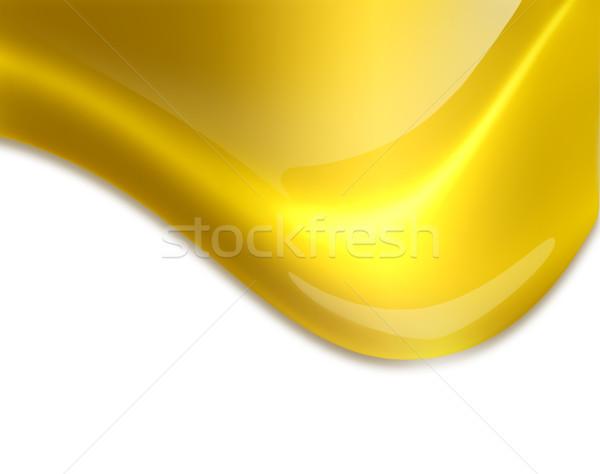 Folyik arany csepp közelkép fehér absztrakt Stock fotó © zven0