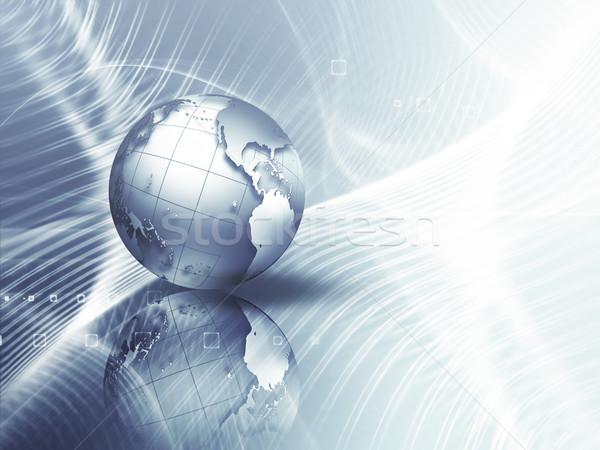 üzlet absztrakt világ internet technológia Föld Stock fotó © zven0