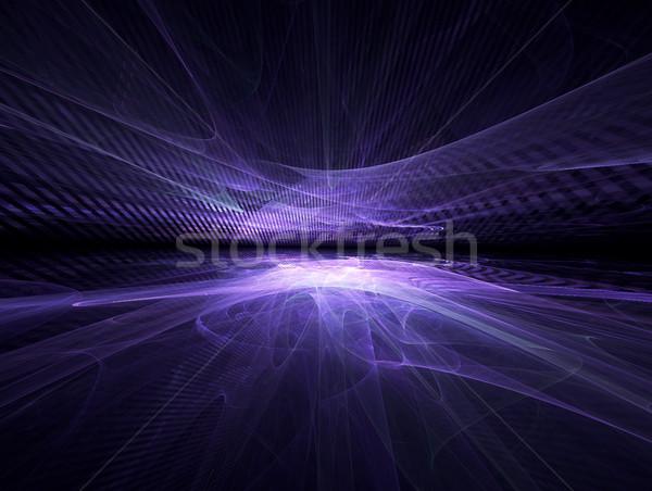フラクタル 地平線 未来的な 光 デザイン 黒 ストックフォト © zven0