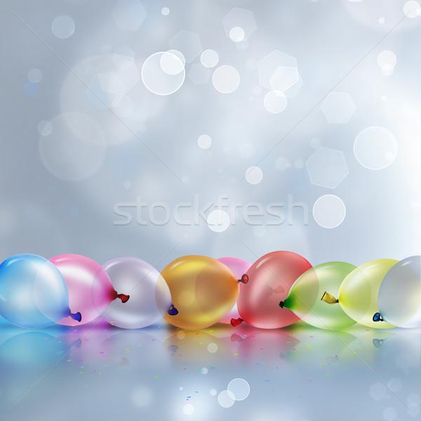 Colorido balões luz borrão feliz Foto stock © zven0
