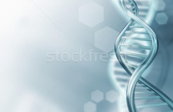DNA strands background Stock photo © zven0