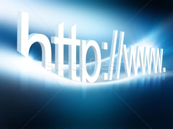 Internet conexão 3D gerado imagem negócio Foto stock © zven0