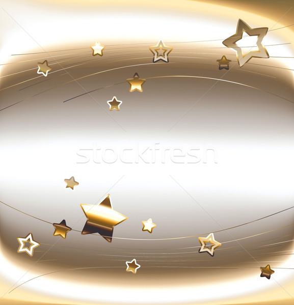 Wakacje karty złoty gwiazdki szczęśliwy streszczenie Zdjęcia stock © zven0