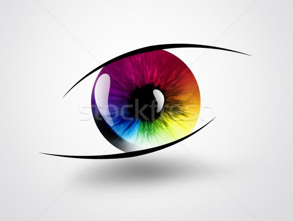 Сток-фото: радуга · глаза · свет · аннотация · дизайна · красоту