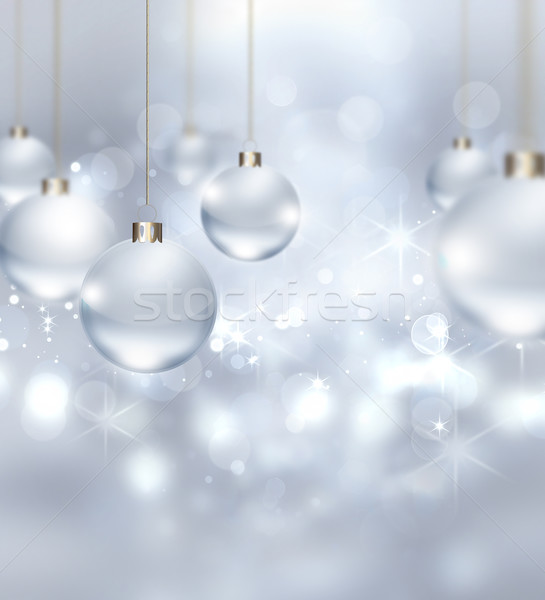 silver Christmas background Stock photo © zven0