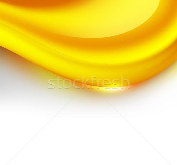 Caramelo onda abstrato branco comida doce Foto stock © zven0