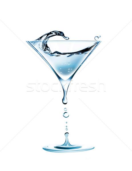 Stockfoto: Water · cocktail · vorm · glas · achtergrond · drinken