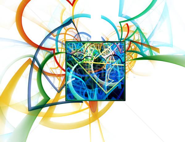 абстракция аннотация линия кадр искусства Сток-фото © zven0