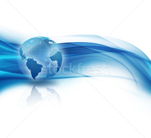 Business abstrakten Welt Internet Technologie Erde Stock foto © zven0