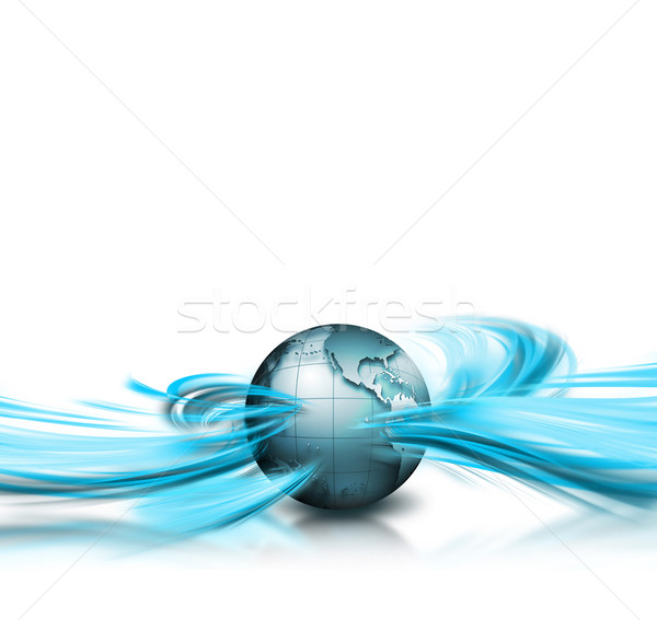 ビジネス 抽象的な 惑星 インターネット 世界 技術 ストックフォト © zven0