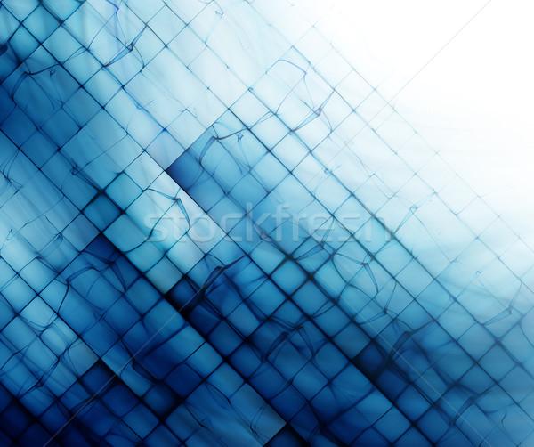 Streszczenie niebieski biały projektu technologii Zdjęcia stock © zven0