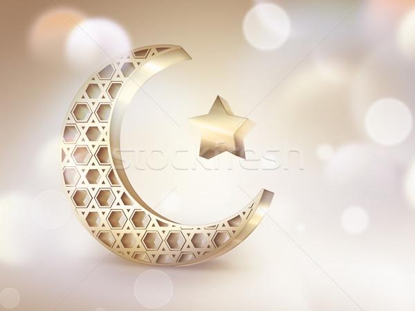 Semiluna stea lumina abstract proiect Imagine de stoc © zven0