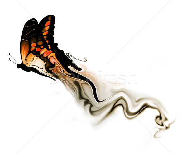 butterfly with smoke Stock photo © zven0
