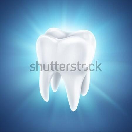 Stok fotoğraf: Sağlıklı · beyaz · diş · mavi · gülümseme