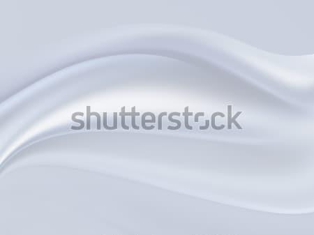 白 サテン クローズアップ ファブリック テクスチャ デザイン ストックフォト © zven0