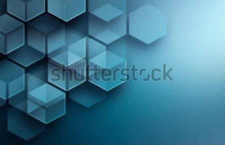 Absztrakt modern ibolya hatszög formák fény Stock fotó © zven0