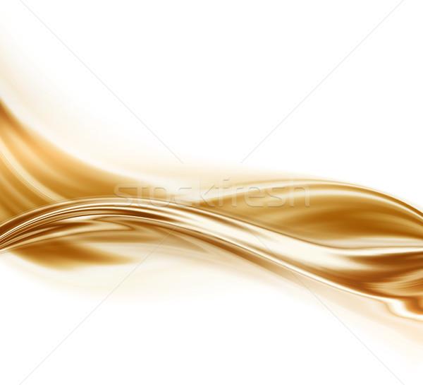 Flüssigkeit Gold abstrakten Design Kunst Element Stock foto © zven0